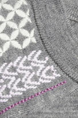 J.Crew Tippi embroidered merino wool sweater