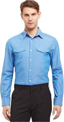 Kenneth Cole Reaction Shirt, Long-Sleeve Striped Shirt