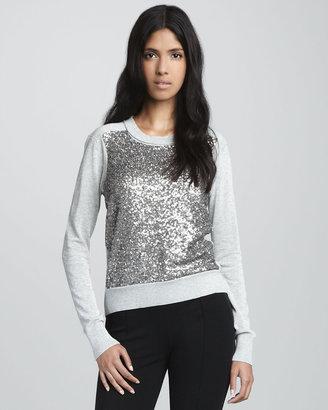 Diane von Furstenberg Maryse Sequined Wool Sweater