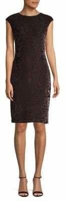 Vince Camuto Casual Burnout Velvet Dress