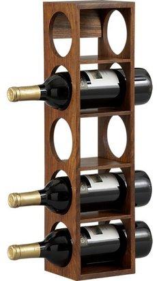 Crate & Barrel Shesham 5-Bottle Wall Mount-Stacking Wine Rack