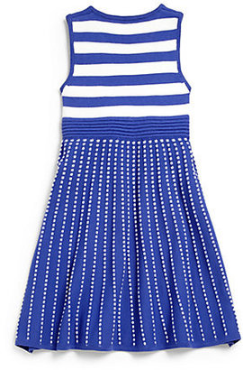 Milly Minis Girl's Striped Flare Dress