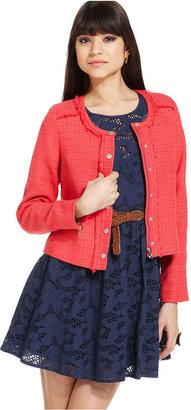 Miss Me Jacket, Tweed Zipper