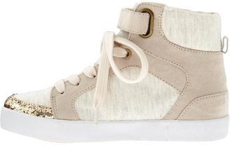 Old Navy Girls Mixed Glitter-Toe High-Tops