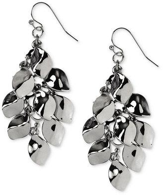 Nine West Earrings, Silver-Tone Shaky Chandelier Earrings