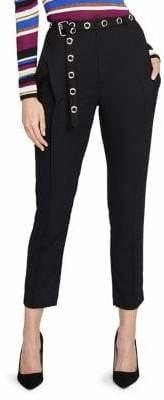 Rachel Roy Zane Grommet Belted Crop Pants