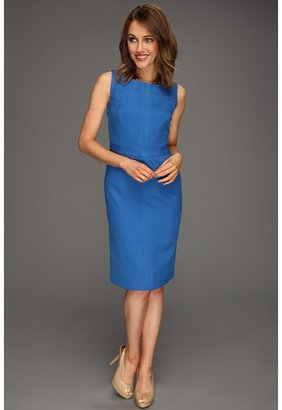 Ellen Tracy Sleeveless Splice Sheath Dress (Lake) - Apparel