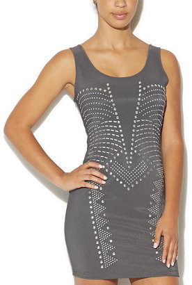 Arden B Studded Scoop Neck Dress