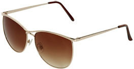 Wet Seal WetSeal Dipped Metal Cateye Sunglasses Gold