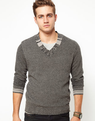 Diesel Sweater K-Fillide V Neck Knit
