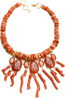 Bounkit JEWELRY Carnelian and Coral Necklace