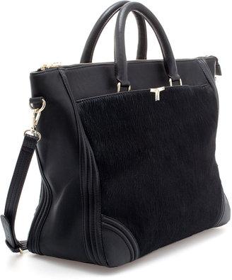 Zara Fur Shopper Bag