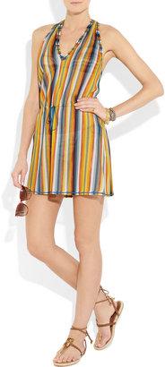 Missoni Striped crochet-knit beach dress