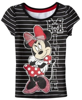 Favorite Characters Disney® Infant Toddler Girls Short-Sleeve Minnie Mouse Tee - Black
