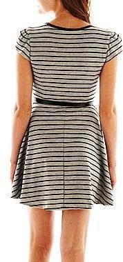 City Triangles Striped Skater Dress
