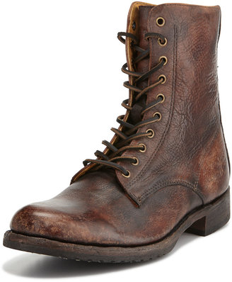 Frye Rand Stonewash Lace-Up Boot, Cognac