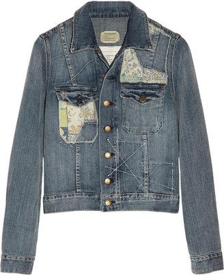 Current/Elliott The Tack patchwork stretch-denim jacket