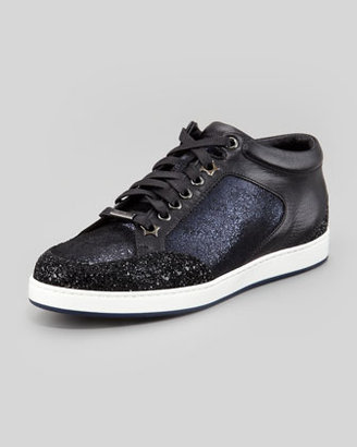 Jimmy Choo Miami Low-Top Glitter Sneaker