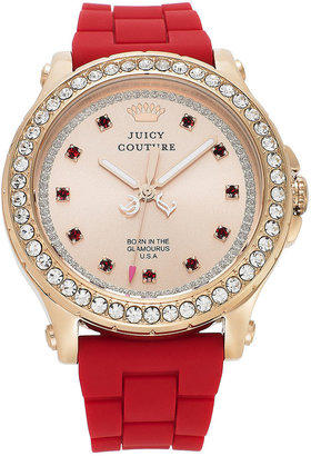 Juicy Couture Watch, Women's Pedigree Red Silicone Strap 38mm 1901068