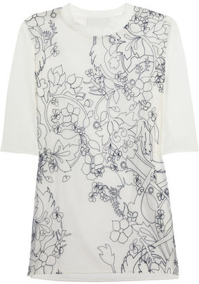 3.1 Phillip Lim Embroidered silk-organza and cotton T-shirt