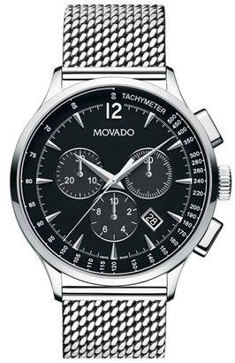 Men's Movado 'Circa' Chronograph Mesh Strap Watch, 42Mm $1,495 thestylecure.com