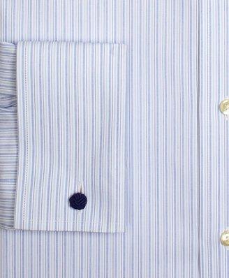 Brooks Brothers Supima® Cotton Non-Iron Traditional Fit Multistripe French Cuff Dress Shirt