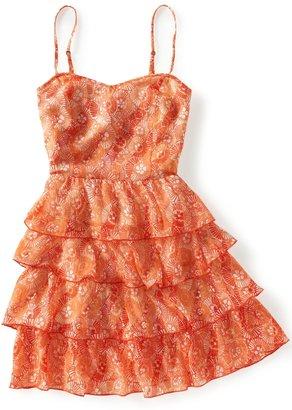 Aeropostale Chiffon Ruffled Woven Dress