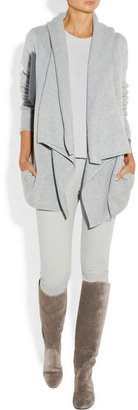 Donna Karan Hooded fine-knit cashmere cardigan