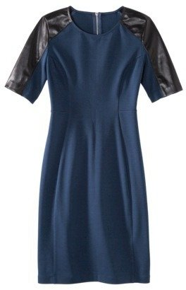 Mossimo Women's Elbow Sleeve Ponte w/Faux Leather Dress - Assorted Colors
