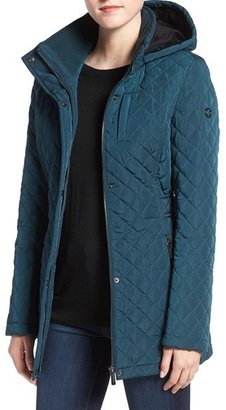 Women's Calvin Klein Hooded Quilted Jacket $168 thestylecure.com