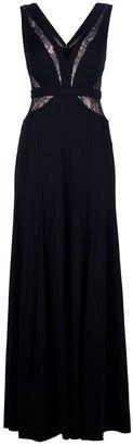 BCBGMAXAZRIA Lace panel evening gown