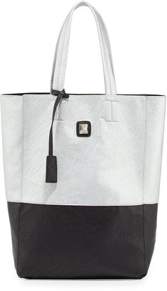 Kooba V Couture by Kami Colorblock Faux Leather Tote Bag, Silver/Black