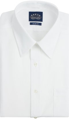 Eagle Men's Non Iron Slim Fit Solid Point Collar Dress Shirt