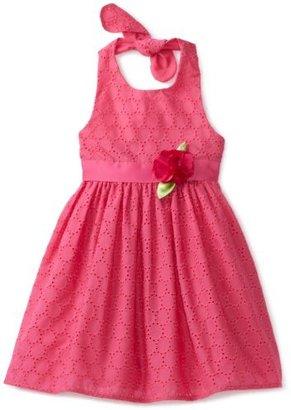 Sweet Heart Rose Girls 2-6x Halter Eyelet Woven Dress