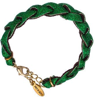 Ettika Braided Green Glitter Bracelet