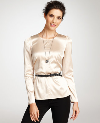 Ann Taylor Fitted Silk Blouse