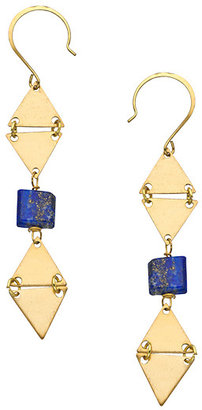 Lapis Blydesign Bello Brass And Drop Earrings
