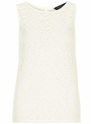 Dorothy Perkins Tall Ivory lace front shell Top