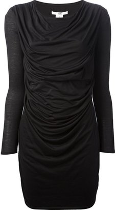 Helmut Lang draped dress