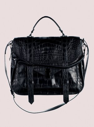 Proenza Schouler PS1 Extra Large Crocodile