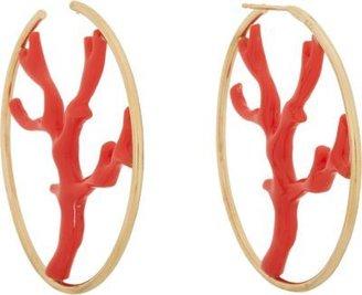 """Aurelie Bidermann Capri"""" Hoop Earrings"""