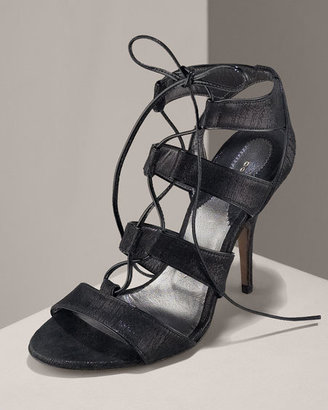 Donna Karan Suede Tie Sandal