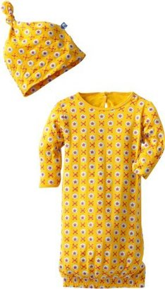 KicKee Pants Baby Boys and Girls Newborn Layette Gown and Knot Hat Set