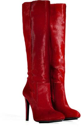 Burak Uyan Ruby Red Haircalf Boots