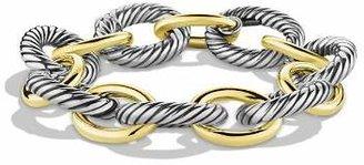 David Yurman Oval Extra Large Link Bracelet with Gold