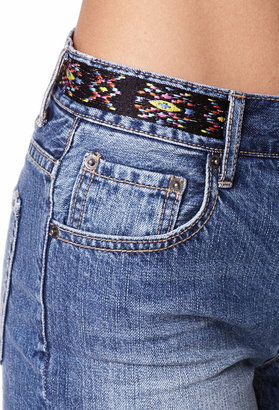 Forever 21 Southwestern-Style Denim Shorts