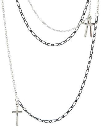 Aeropostale Cross Layered Long-Strand Necklace