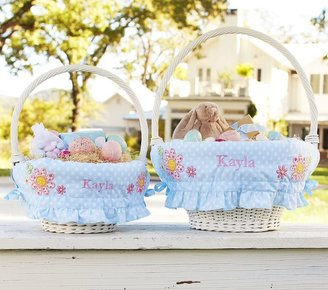 Pottery Barn Kids Blue Dot Ruffle Easter Basket Liners