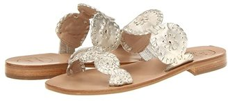 Jack Rogers Lauren (Platinum) Women's Slide Shoes