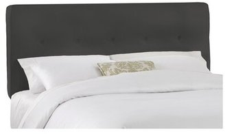 Skyline Furniture Upholstered Panel Headboard Size: Twin, Upholstery: Charcoal